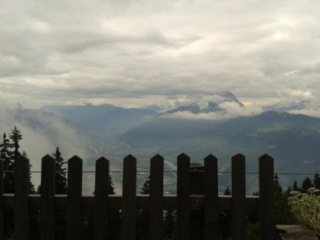 Lauferei - Aussicht auf das Bündner Rheintal