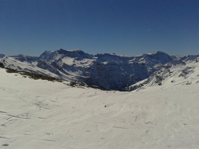 Lauferei - Wissmeilenpass Blick Richtung Glarner Alpen und Graubünden Flims - Laax