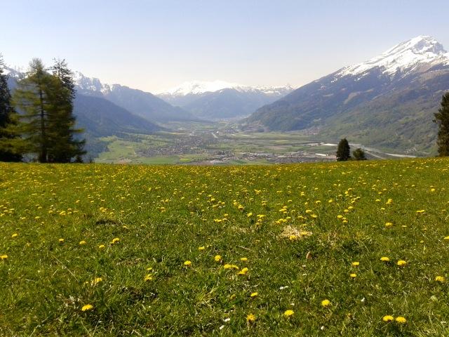 Lauferei - Ausblick aufs Bündner Rheintal Richtung Chur
