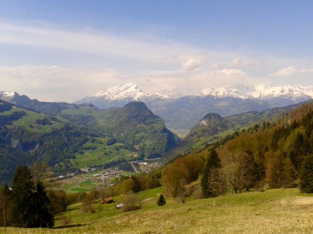 Lauferei - Ausblick auf die Chlus. Die das Prättigau vom Bündner Rheintal trennt.