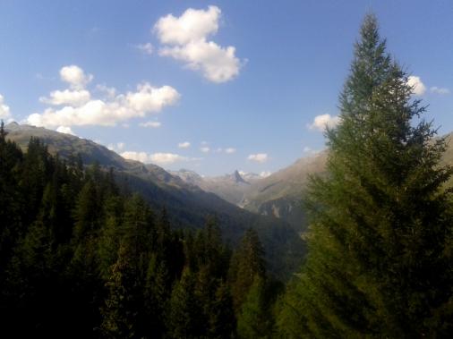 Lauferei - Blick Richtung Zerfreina - das Bündner Matterhorn