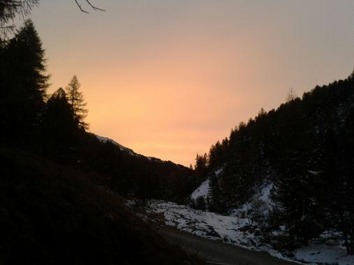Lauferei - Sonnenaufgang in S-charl
