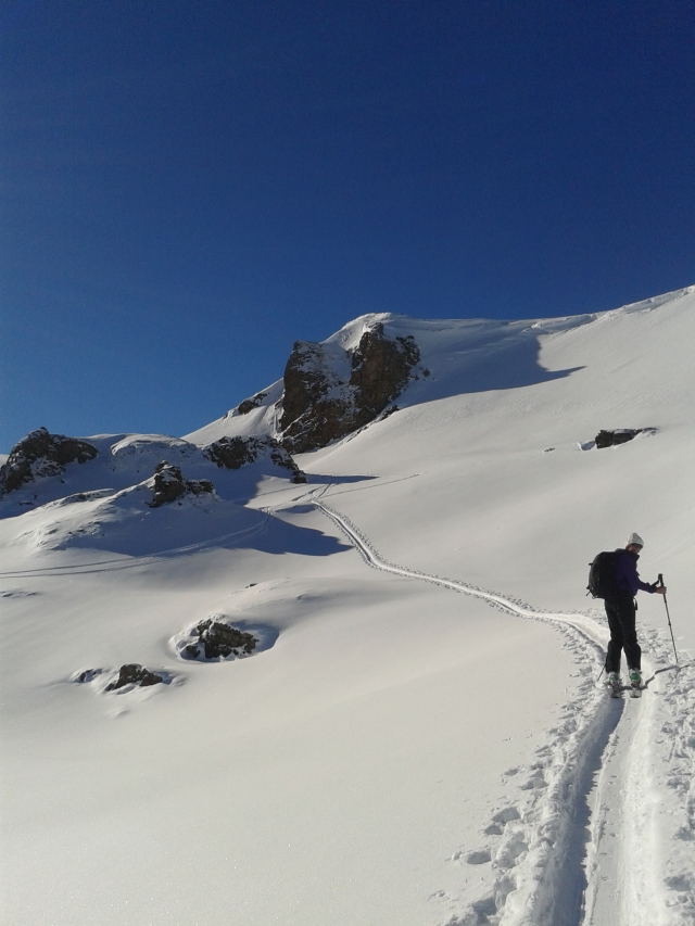 Lauferei - Skitour Richtung Gulmen Flumserberge